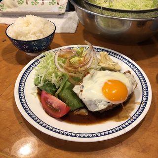 ハンバーグ定食(あじさい )