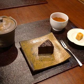 和のガトーショコラの紅茶セット(和紅茶専門店 紅葉(くれは))
