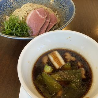 紀州鴨と岩津ねぎの新麦細つけそば200g(小麦と大豆 自家製麺 麺や ひなた)