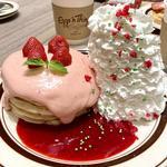 苺のクリスマスパンケーキ