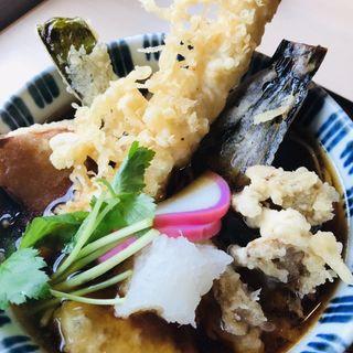 天そば(大海老・野菜)
