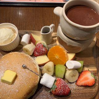 チョコフォンデュパンケーキ(ボンヌ カフェ 十条店 (Bonnel Cafe))