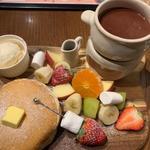 チョコフォンデュパンケーキ