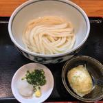 生醤油うどん(玉子天トッピング)