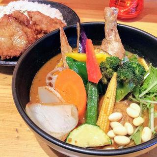 チキンと1日分の野菜20品目(Rojiura Curry SAMURAI. 下北沢店 )