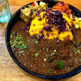 スパイシーチキンカレー定食(スパイスカレー青藍)