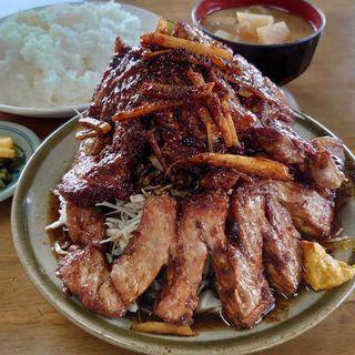 豚ローススタミナ焼定食(さつき食堂)