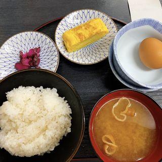 たまごかけご飯定食、卵焼き