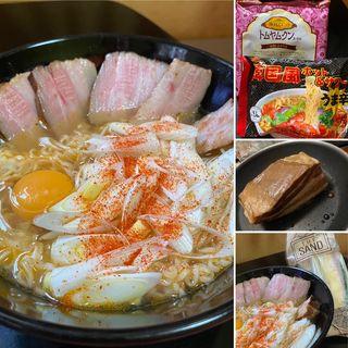 辛ネギチャーシュー麺(自宅)