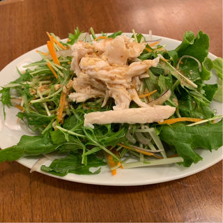 蒸し鶏胡麻サラダ(謝朋殿 粥餐庁 エスパル仙台店 (シャホウデン カユサンチン))