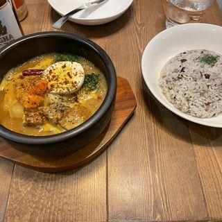 野菜とチキンのスープカレー(Spice&Sweets KAJU)