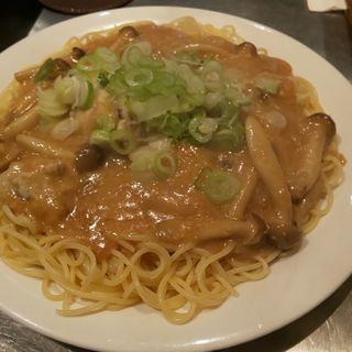 牡蠣のみそパスタ(パスタひろば )