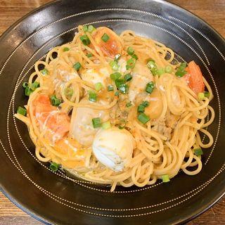 牡蠣とモッツァレラチーズのトマトクリームソース(PASTAわざや (パスタ・ワザヤ))