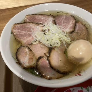 チャーシュー塩ラーメン味玉topping(あす流 (あすりゅう))