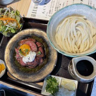 ローストビーフ丼セット(ぶっかけ)(釜揚げうどん 鈴庵 )