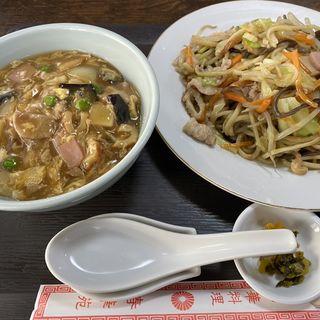 皿うどんとミニ中華丼(春華苑 )