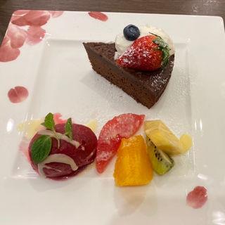 ケーキセット(くずは珈琲 by珈人)