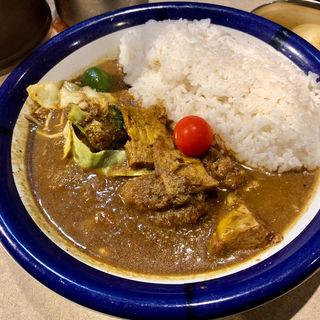 野菜+ビーフカレー ルー大盛り(カリーライス専門店エチオピア 本店)