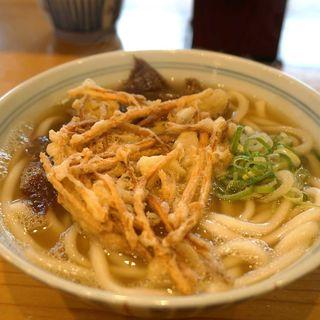 肉うどん+ごぼう天(久留米荘 津福店)