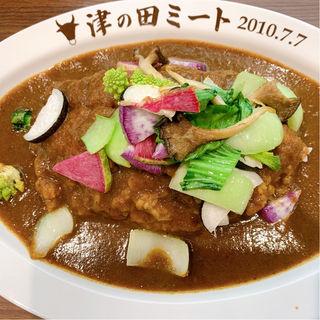 カツカレー(本日の野菜トッピング)(津の田咖喱)