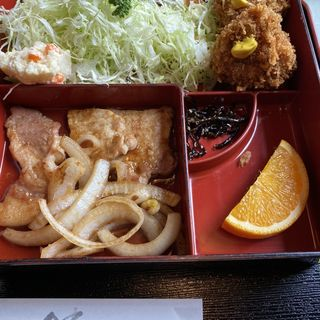 生姜焼とヒレカツ定食(とんかつ 籠森)