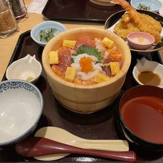 海の彩りおひつ天ぷらセット(四六時中 田無アスタ店)