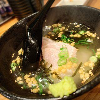 特製鶏茶漬け(とり焼肉エイト)