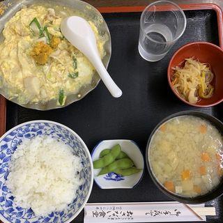 ほたて貝焼き味噌定食(お食事処おさない)