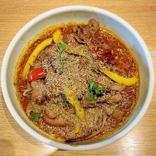 限定麺 SUPA☆SUPAラム肉スパイスらぁ麺(麺屋宗&SOU 中目黒店 (めんやそう))