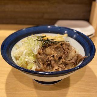 肉ぶっかけうどん(おおぎ屋)