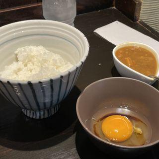 和風カレー付きTKG(柳麺まる重)