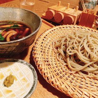 鴨汁つけ蕎麦(そば切り鴨嘴)