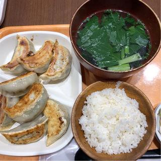 黒豚餃子定食(手作り点心舗 阿里城)