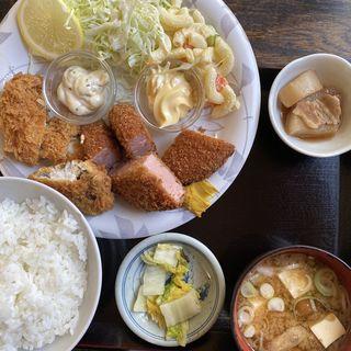 ハムカツミックス定食(三喜食堂 )