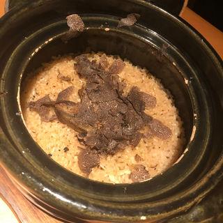 フォアグラトリュフご飯(金舌 白金 (きんたん))