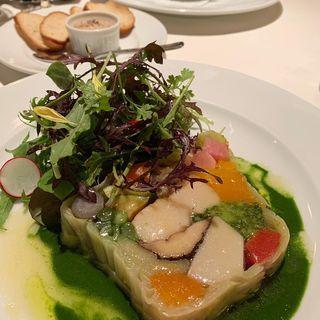 旬野菜と帆立のテリーヌ(Le Nougat)