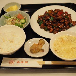 若鶏の甘味噌炒め定食(大成閣 (タイセイカク))