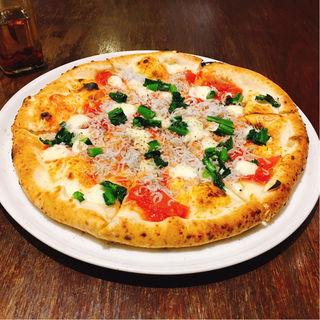 菜の花としらすのピザ(PIZZA365)
