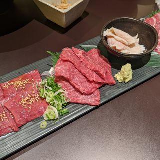 肉の刺身盛り合わせ(三百屋 F3)