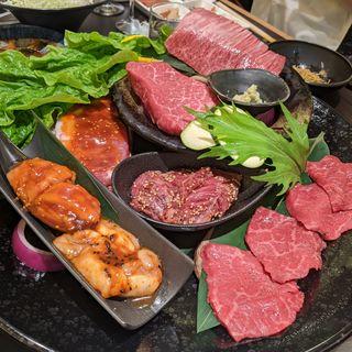 厚切り肉・タレ肉盛り合わせ(三百屋 F3)