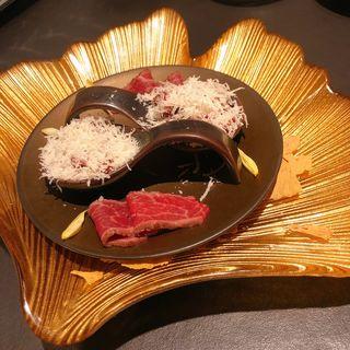 黒毛和牛のレアローストビーフ(煌 焼肉 (KIRAMEKI))