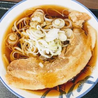 肉そば(そば切り うちば)