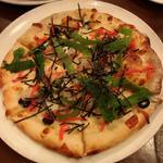 明太子と餅のピッツァ