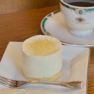 レアチーズケーキ(松崎珈琲 )
