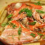 金目鯛の煮付けと筍ご飯