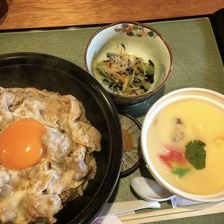 親子丼定食(白金台所 茶わんむし 下釜)