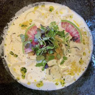 牡蠣の味噌クリームうどん(茶ぶ釜 )