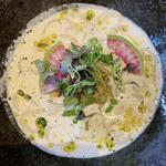 牡蠣の味噌クリームうどん