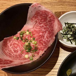 サーロイン茶漬け(炭火焼肉バルAGITO HIRAO)