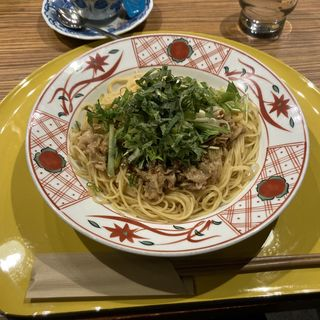 京もち豚のしゃぶしゃぶとたっぷり野菜のごまだれ風味(先斗入ル なんばウォーク店 (ポントイル))